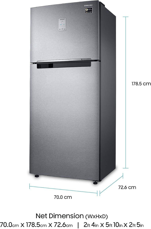 Samsung 465 L 4 Star Frost Free Double Door Refrigerator Rt47m623esl Tl Ez Clean Steel Vcm