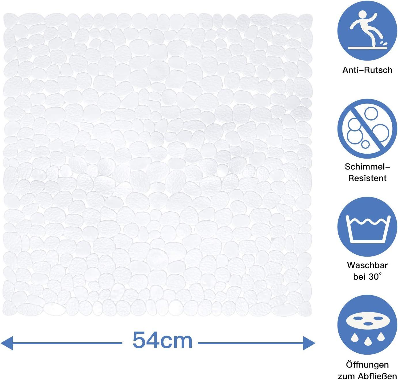 Blau Baozun Badewannenmatte Duschmatte Badewanneneinlage Antirutschmatte 100x40 cm rutschfest Maschinenwaschbar