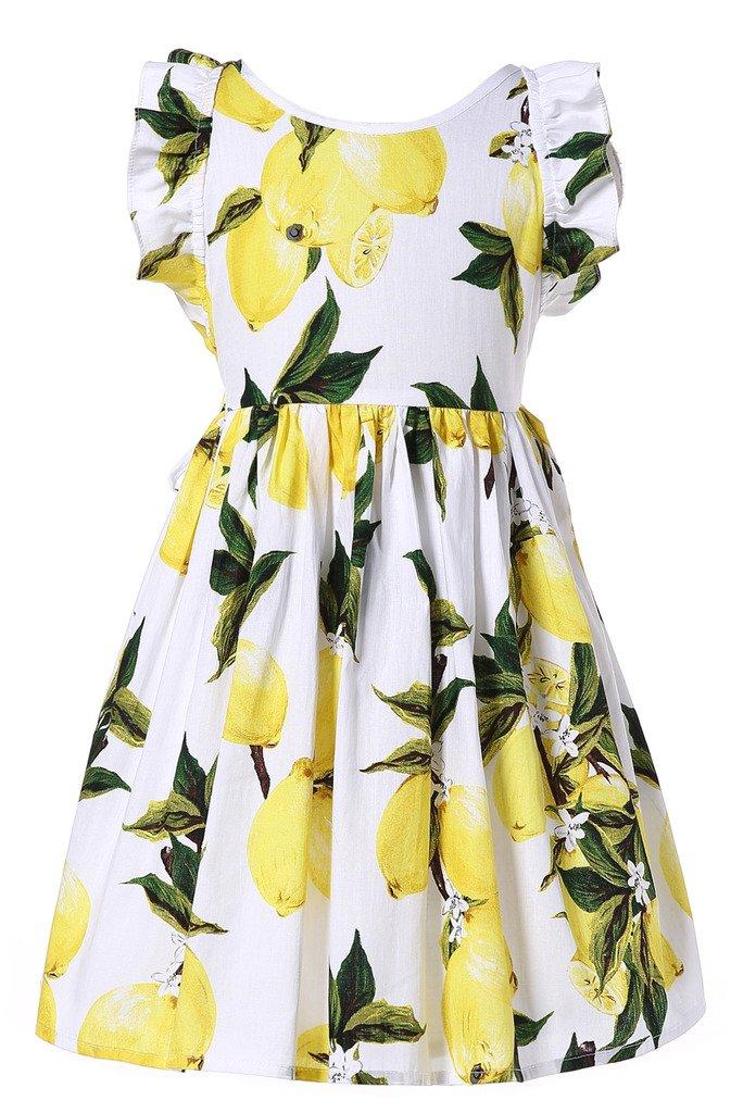Happy Rose Girls Cotton Vintage Print Floral Princess Dress for Toddler and Girls 5