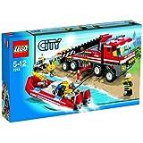 Lego City 7213 - Autogrù e Gommone dei Pompieri, 5-12 Anni