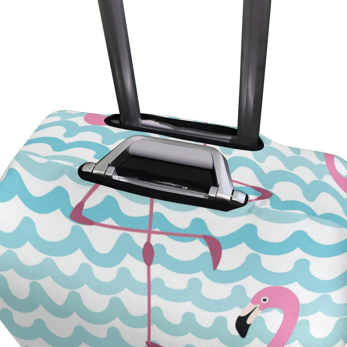 OREZI Luggage Protector Pink Flamingos Travel Luggage Elastic Cover Suitcase Washable and Durable Anti-Scratch Stretchy Case Cover Fits 18-32 Inches