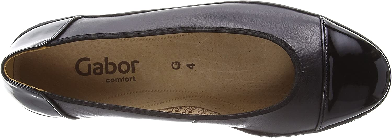 Black Leather//Patent Ht 5 UK Gabor Petunia Women/'s Loafers Black