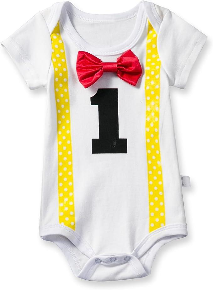 TTYAOVO Body para Bebé Body Niños Niñas Unisex 1 Año Amarillo: Amazon.es: Ropa y accesorios