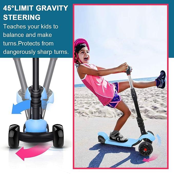 Amazon.com: XJD - Patinete para niños con asiento extraíble ...