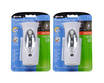 Amerelle LED Power Failure Light 71134CC By Amertac   A Backup Plug In  Emergency Preparedness