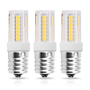 Smartinliving E17 LED Bulbs for Microwave Oven Appliance, 40W Halogen Bulb Equivalent, Daylight White 6000K, E17 Intermediate Base for Microwave Oven Over Stove Appliance Refrigerator, Pack of 3