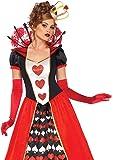 LEG AVENUE(レッグアベニュー) Deluxe Queen of Hearts ロングドレス クラウンセット コスチューム マルチ レディース XLサイズ