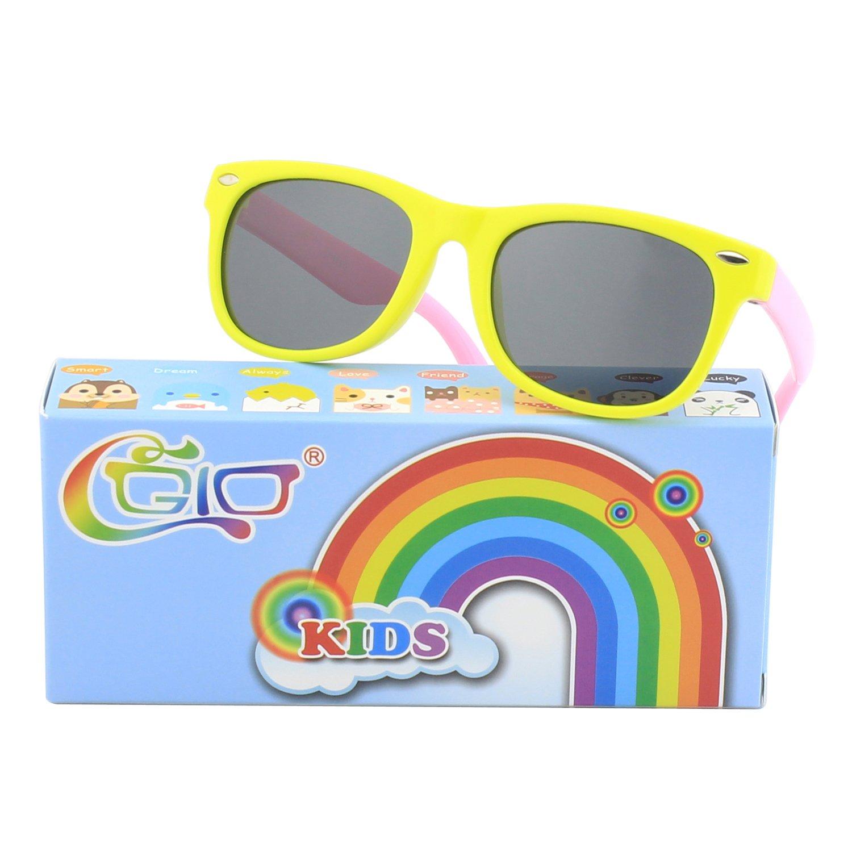 CGID Soft Rubber Kids Polarized Sunglasses for Children Age 3-10,K02