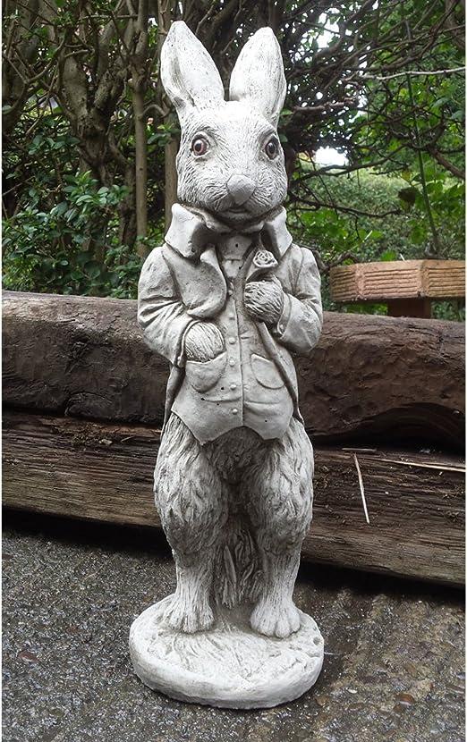 Garden Ornaments by Onefold - Figura de Conejo para jardín, Adorno para Exterior, tamaño 60 x 80 cm, de Piedra AN23: Amazon.es: Jardín