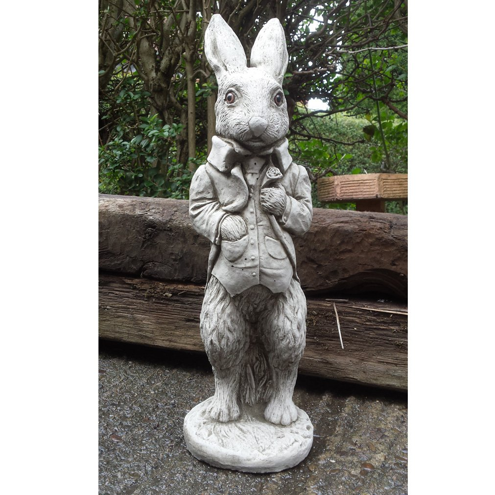 Garden Ornaments By Onefold AN23 Large Peter Rabbit Stone Garden Ornament,  Grey, 18x16x54 Cm: Amazon.co.uk: Garden U0026 Outdoors