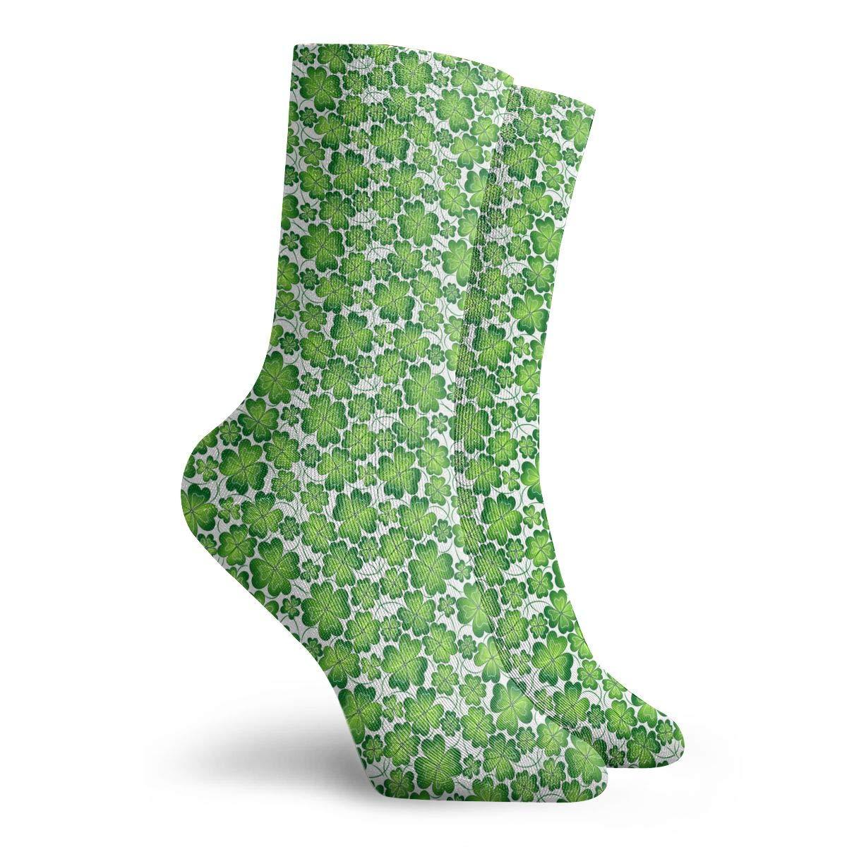 Unisex St Patricks Day Gift Athletic Quarter Ankle Print Breathable Hiking Running Socks
