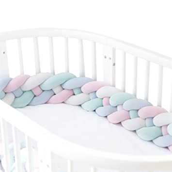 Amazon.com: Marshmallow sábanas para cuna Parachoques 4 ...