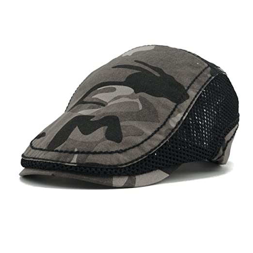faf8c45c Cho-Five Duckbill Hat,Camo Newsboy Cap,Summer Oversized Adjustable Flat Cap  Running