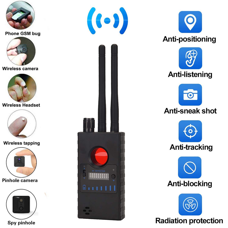 Detector C/ámara Anti Espia para C/ámara Oculta L/áser Lente gsm Escuchando Dispositivo Descubridor Inal/ámbrico RF Bug Detector Se/ñal Radar Radio Esc/áner Alarma Inalambrica