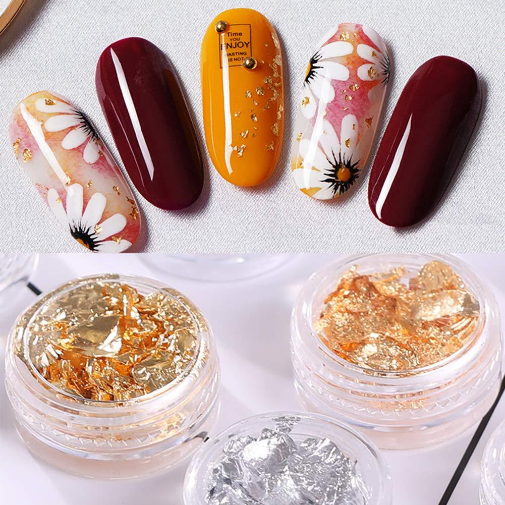 Pegatinas de oro para uñas