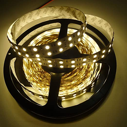 Dual Double Roll Warm White 5M 600 Leds 5050 Strip Lights Lamp IP67 Waterproof