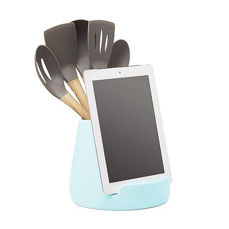 Ceramic Kitchen IPad Stand and Utensil Holder