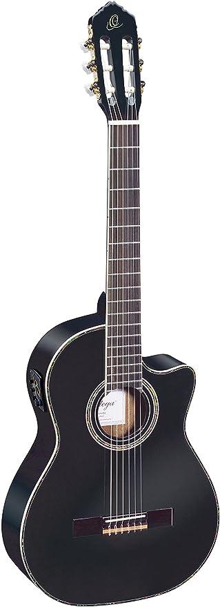 Ortega RCE141BK - Guitarra electroacústica (cedro y caoba, tamaño ...