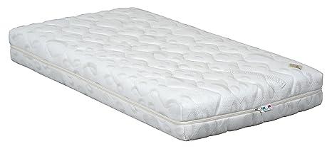 Colchón 60 x 120 Desenfundable para cama Baby, revestimiento, antiácaros, antibacteriana