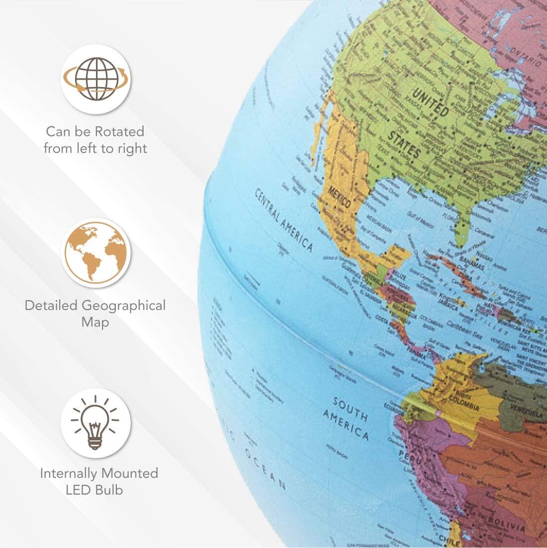 "Waypoint Geographic Parlamondo Interactive Talking Smart Globe 12/"" Diameter I..."