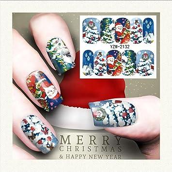 Echou Striping Tape Line Nail Art Tips Decoration Sticker Christmas Sticker D
