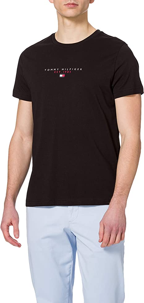 TALLA XS. Tommy Hilfiger Essential Tommy tee Camiseta para Hombre