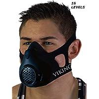 Vikingstrength Training Workout Mask for Running Biking MMA Endurance with Adjustable Resistance, High Altitude Elevation Mask for Air Resistance Training [16 Breathing Levels] …