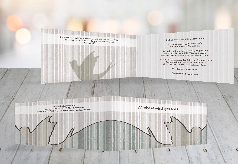 Kartenparadies Einladungskarte Taufeinladung Taufeinladung Taufeinladung Taufkarte Streifenharmonie, hochwertige Einladung zur Taufe inklusive Umschläge   100 Karten - (Format  215x105 mm) Farbe  OckerBeige B01N9XFOR6 | Outlet Online  | Erste in seiner Klasse  | Verschiedene  4b6ee5
