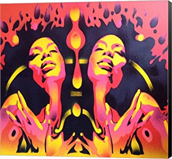 Amazon Com Afro Summer By Abstract Graffiti Canvas Art Wall
