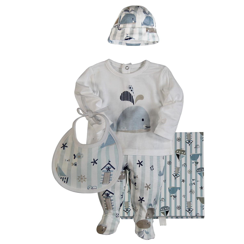 boboli Pack 4 Pieces With Samll Gift Case, Due pezzi pigiama per bimbi Bóboli 108032 108032-9802_9802_62 (3M)