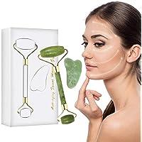 Masajeador de Jade, Rodillo de Jade para Masajeador Facial Antienvejecimiento, Perfecto para Belleza de Cuello y Cara…