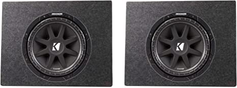 2 Pack /& Box Enclosure Kicker Comp 43C104 10 Inch 300 Watt Subwoofer 2 Pack