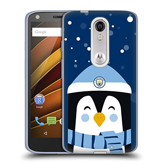 Official Manchester City Man City FC Greetings Christmas Soft Gel Case for Droid Turbo 2 /