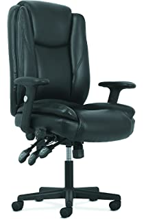 Basyx By HON High Back Leather Office/Computer Chair   Ergonomic Adjustable  Swivel Chair