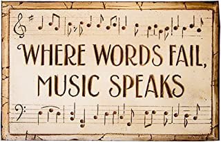product image for Piazza Pisano Where Words Fail Music Speaks Wall Plaque
