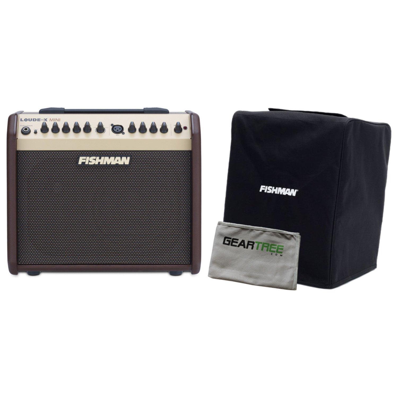 Fishman Loudbox Mini 60Watt Two Channel Acoustic Amp Reverb/Chorus 3 Band EQ w/ Geartree Cloth and Slip Cover by Fishman