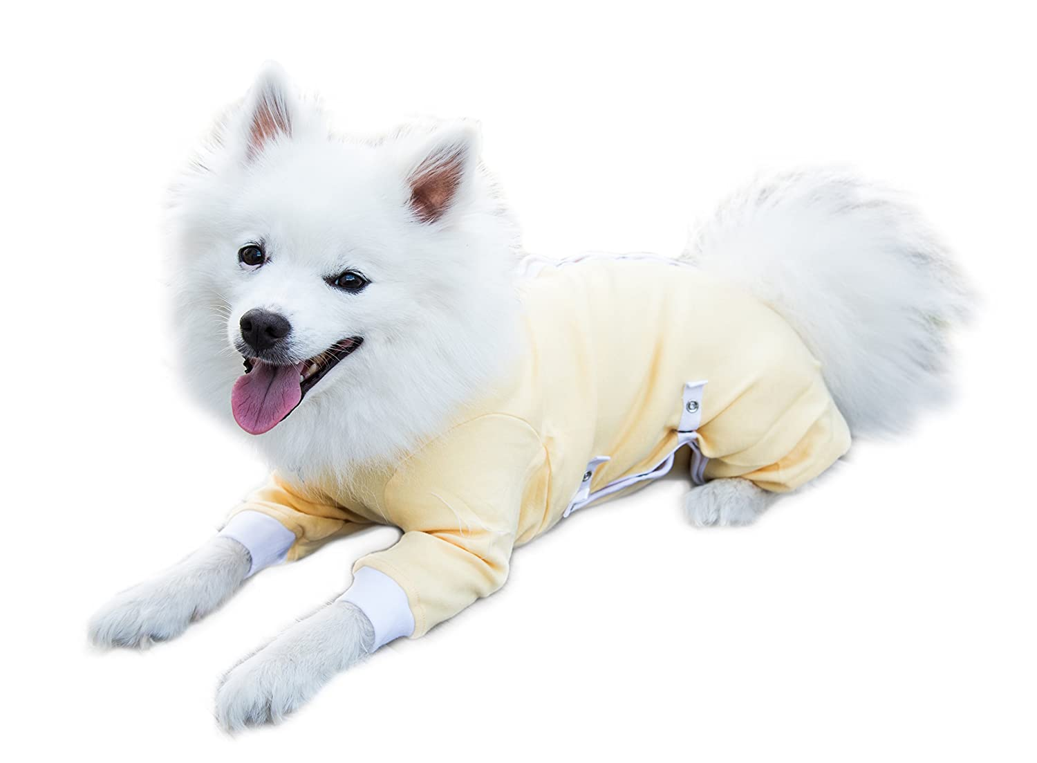 Tulane's Closet Cover Me by Tui Adjustable Fit Step-Into with Long Sleeve for Pets, Large, Yellow