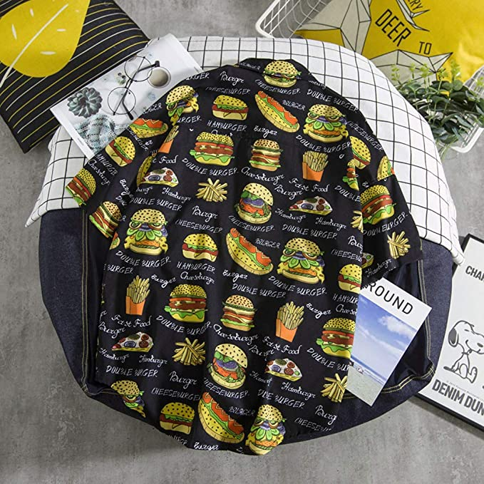 Amazon.com: Tops para hombre Xlala Hamburger patrón ...
