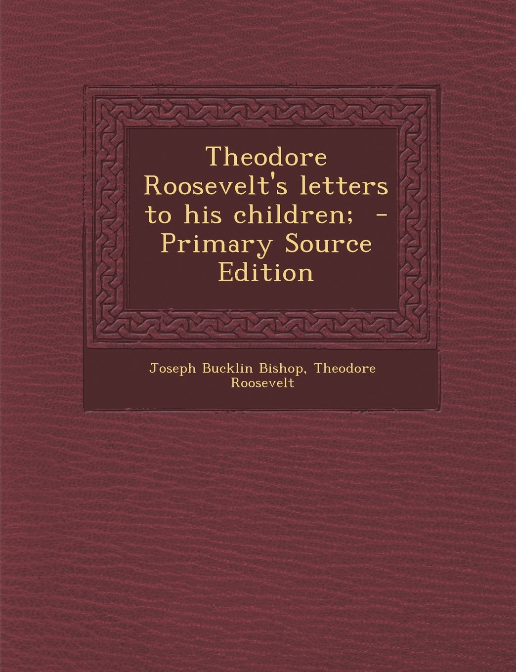 Read Online Theodore Roosevelt's letters to his children; pdf epub