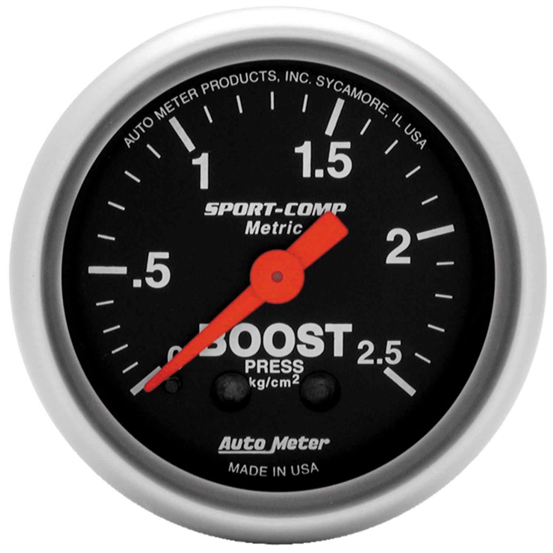 Auto Meter 3303-M Sport-Comp Mechanical Boost/Vacuum Gauge
