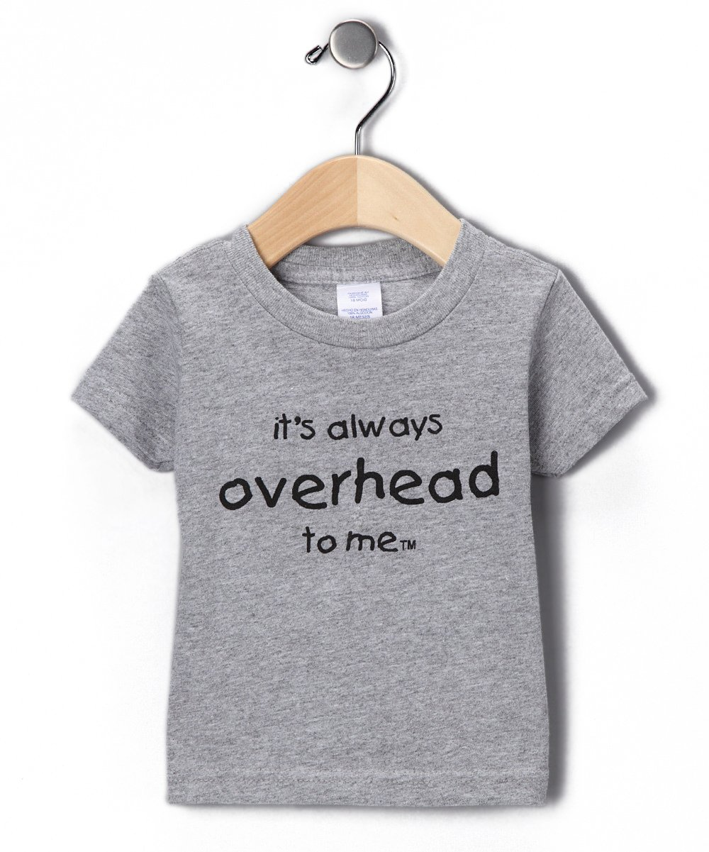 It's Always Overhead To Me Cotton Short Sleeve Toddler Boys T-Shirt (2T, Gray) by Surfer Baby