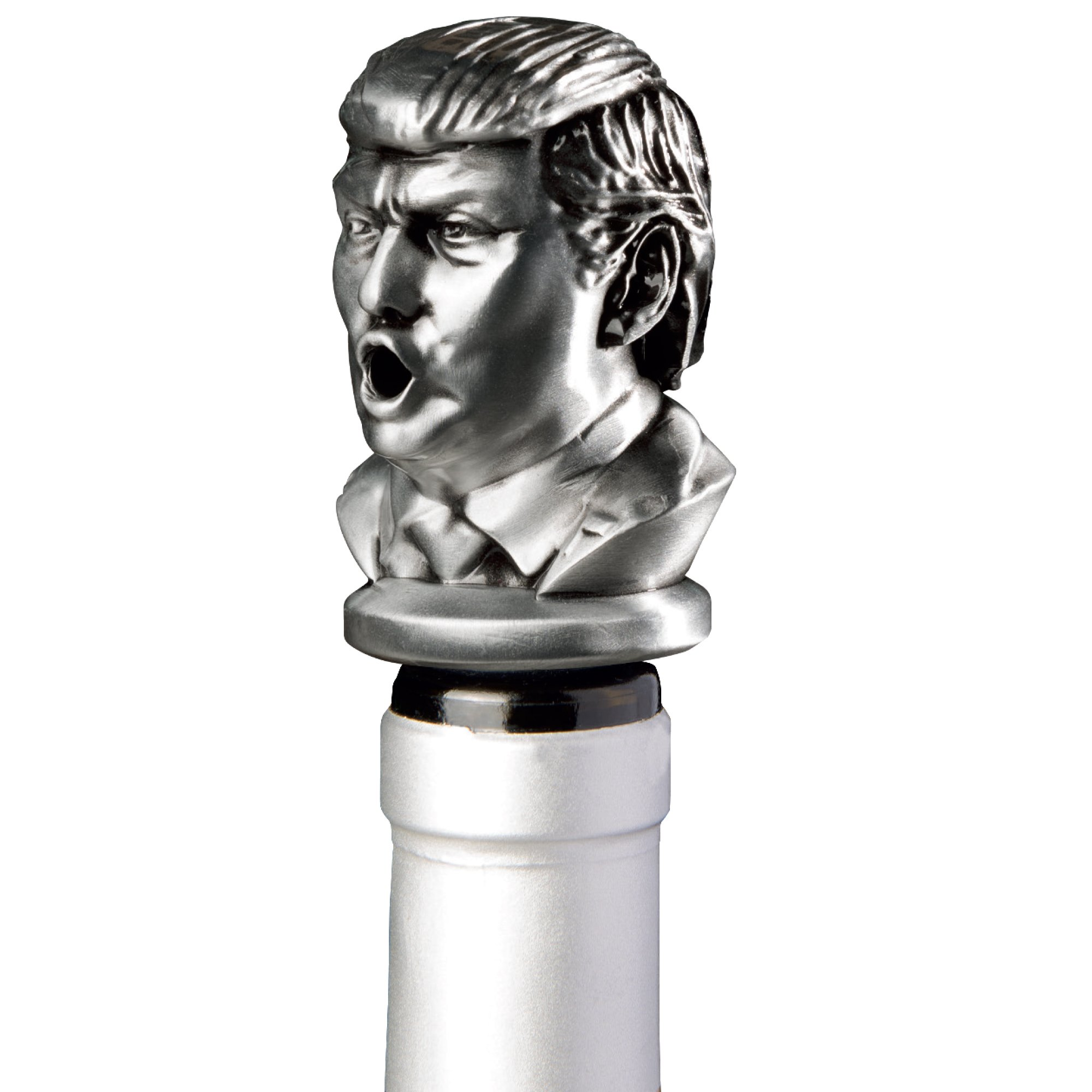 Stainless Steel Trump Wine Aerator Pourer - Deluxe Decanter Spout for Robust Red and White Wine - Pour Amore Bottle Pourer/Stopper & Air Diffuser by Chris's Stuff