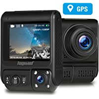TOGUARD Uber Dual Dash Cam Built-in GPS Infrared Night Vision FHD Front and Cabin