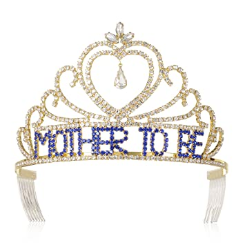 Amazon Dczerong Mother To Be Tiaras Crowns Gold For Baby