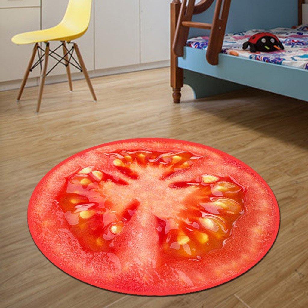 GZP Innenteppich 3D Früchte Rund Teppich Durchmesser 60 80 80 80 100 120   cm Drucken Parlor Wohnzimmer Matten Küche Bad Teppiche Kinder Kinder Schlafzimmer Teppich Decke (Farbe   C, größe   100  100cm) B07963X7XX Teppiche & Lufer 196f9c