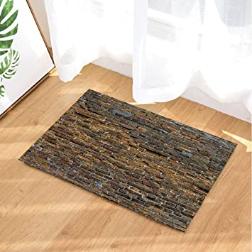 Amazon.com : NYMB Modern Bath Rugs, Retro Brick Wall Reminiscence ...