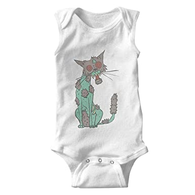 d40f8a6fa Amazon.com  Cat Creepy Zombie Bodysuits Outdoor Organic Cotton Cute ...