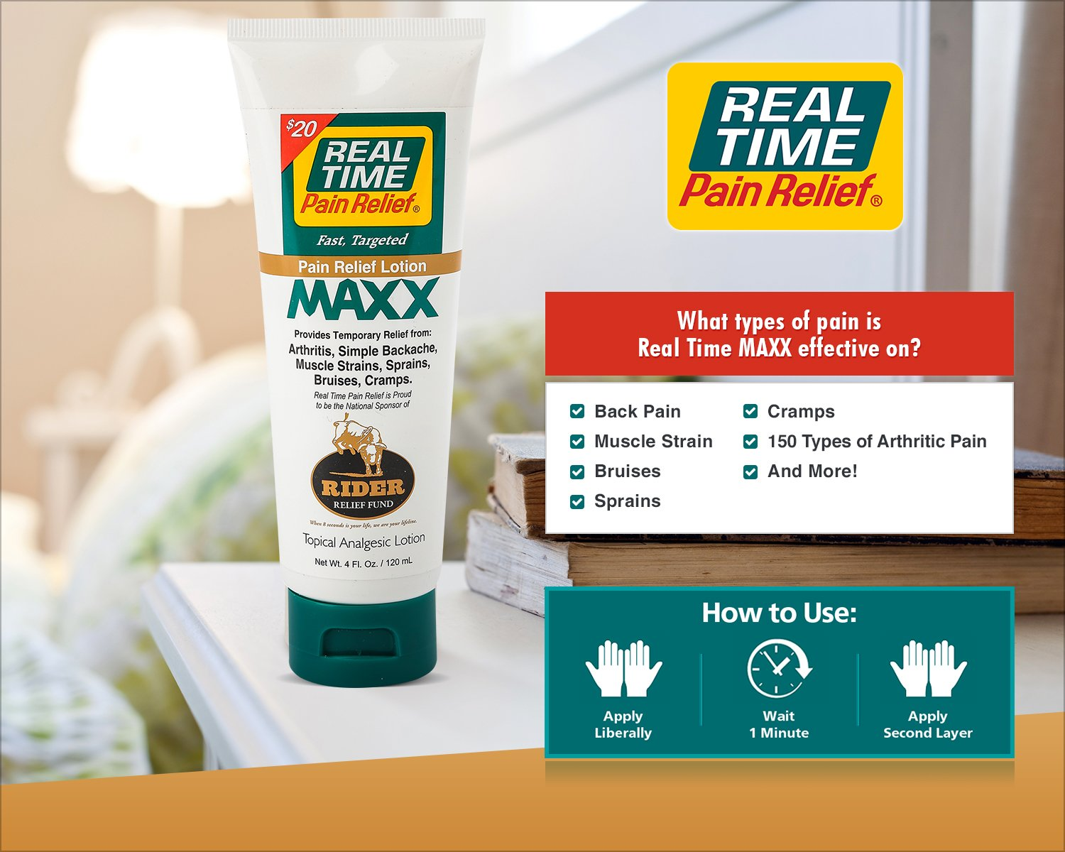 Real Time Pain Relief Stay Active Pack, Sports Cream, Daily Relief, MAXX Relief, 10 Pain Cream Travel Packs by Real Time Pain Relief (Image #5)