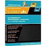 LANHU 100 Grit Sandpaper for Wood Furniture Finishing, Metal Sanding and Automotive Polishing, Dry or Wet Sanding…