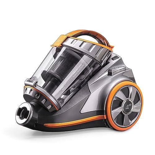 PUPPYOO WP9005B Aspirador Ciclónico sin Bolsa Potente de 800W Aspirador del Hogar con 6 Accesorios Aspiradoras de Trineo